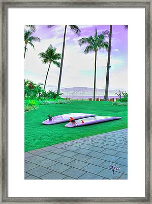 Flat Day Framed Print