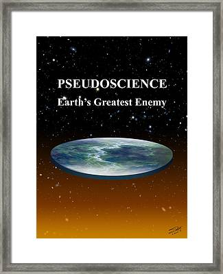 Flat Earth Syndrome  Framed Print by Schwartz