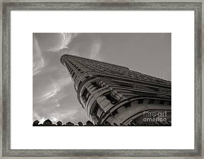 Framed Print featuring the photograph Flat Iron Building by Angela DeFrias