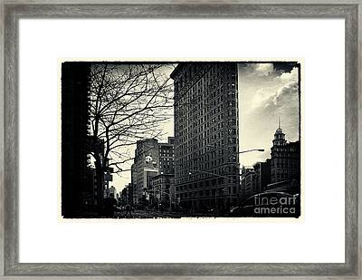 Flat Iron Building Fifth Avenue And Broadway Framed Print by Sabine Jacobs