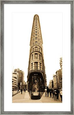 Flat Iron Building In New York City Framed Print