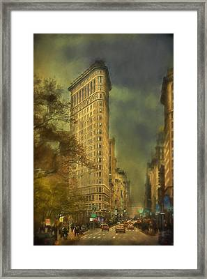 Flat Iron Building Framed Print by Kathy Jennings