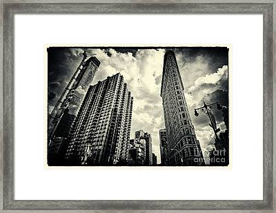 Flat Iron Building New York City Framed Print by Sabine Jacobs
