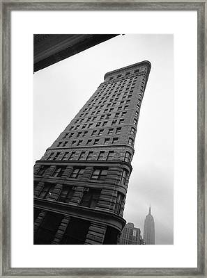 Framed Print featuring the photograph Flat Iron Building Nyc Tilt by Dave Beckerman