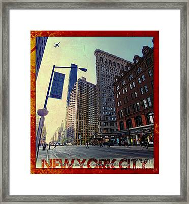 Flat Iron Building Poster Framed Print by Nishanth Gopinathan