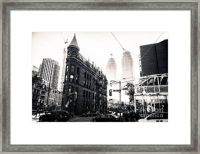 Flat Iron Toronto Framed Print
