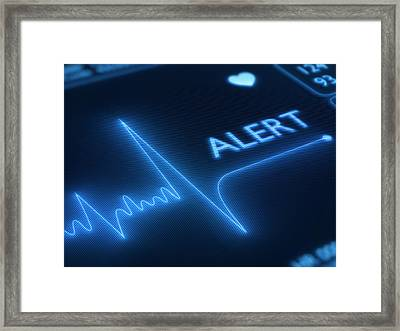 Heart Failure / Health Framed Print by Johan Swanepoel