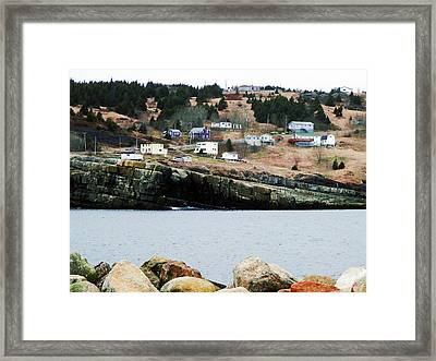 Flat Rock Framed Print by Zinvolle Art