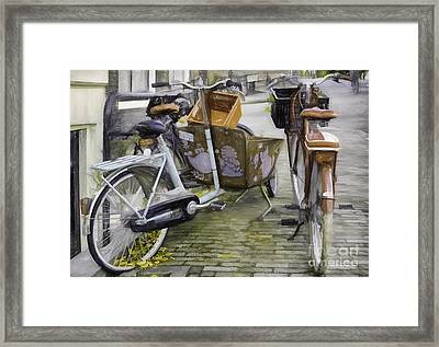 Flat Tire Framed Print by Jean OKeeffe Macro Abundance Art