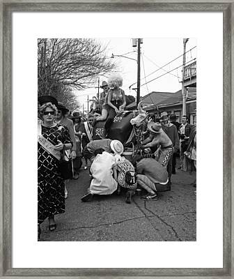 Flat Tire On The Parade Route In New Orleans Framed Print