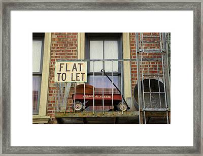 Flat To Let Framed Print by Laurie Perry