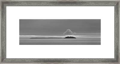 Flat Top Island Bw Framed Print