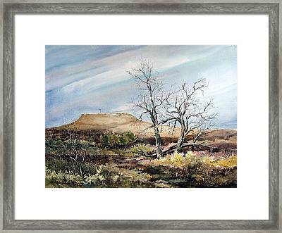 Flat Top Framed Print