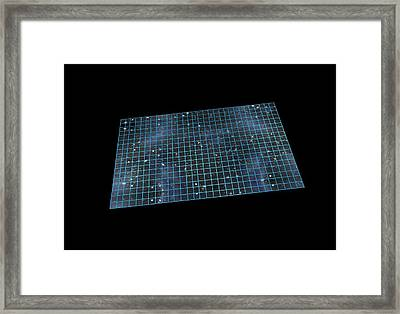 Flat Universe, Artwork Framed Print by Science Photo Library
