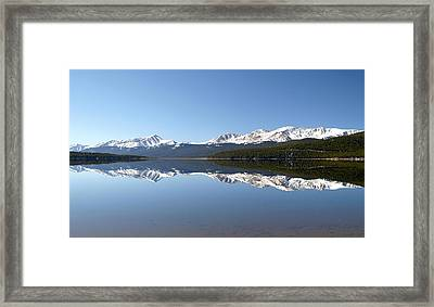 Flat Water Framed Print