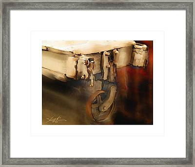 Framed Print featuring the painting Flatbed Trolley by Bob Salo