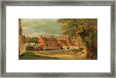 Flatford Mill, John Constable, 1776-1837 Framed Print
