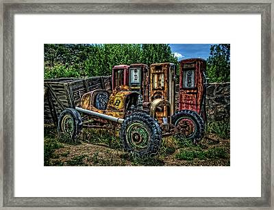 Framed Print featuring the photograph Flathead Ford Racer by Ken Smith