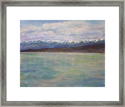 Flathead Lake Montana Framed Print by Helen Campbell
