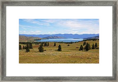 Flathead Lake View Framed Print by Daniel Woodrum