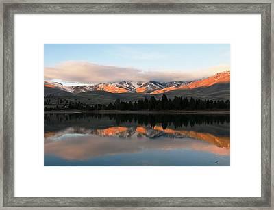 Flathead River Framed Print by Randolph Fritz
