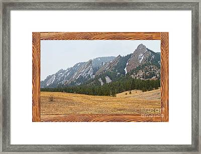 Flatiron Barn Wood Picture Window Frame View Framed Print by James BO  Insogna