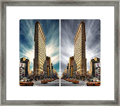 Flatiron Building  Framed Print by AHcreatrix