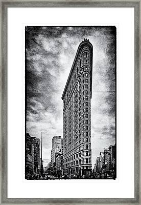 Framed Print featuring the photograph Flatiron Building - New York City by James Howe