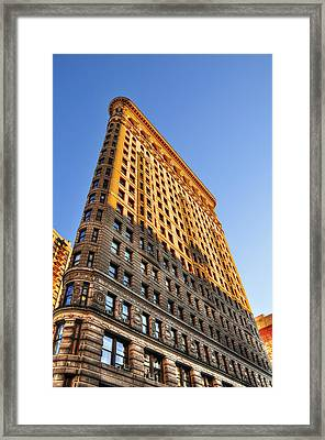 Flatiron Building Profile Too Framed Print by Randy Aveille