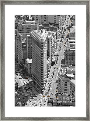 Flatiron Building Framed Print by Randi Grace Nilsberg