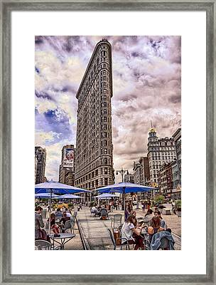 Framed Print featuring the photograph Flatiron Building by Steve Zimic