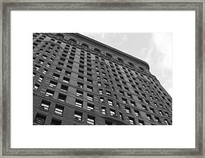 Framed Print featuring the photograph Flatiron Building by Steven Macanka
