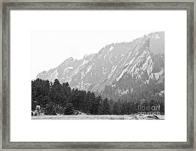 Flatiron In Black And White Boulder Colorado Framed Print by James BO  Insogna
