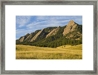 Flatiron Morning Light Boulder Colorado Framed Print