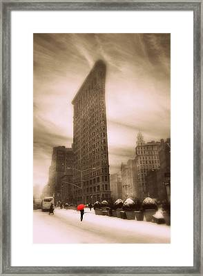 Flatiron On Fifth Framed Print by Jessica Jenney