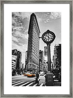 Flatiron Rush Framed Print