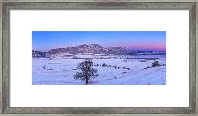 Flatiron Sunrise Framed Print