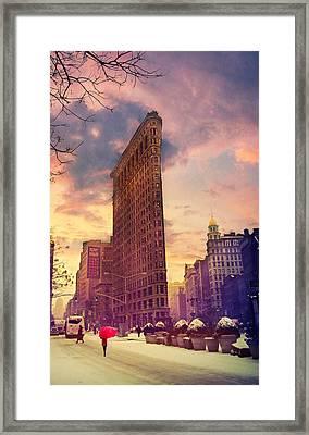 Flatiron Winter Framed Print by Jessica Jenney