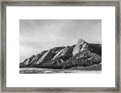 Flatirons B W Framed Print by Aaron Spong