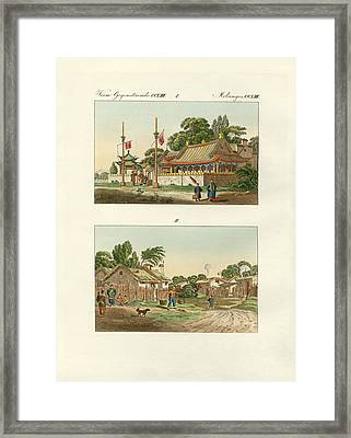 Flats Of The Chinese Framed Print by Splendid Art Prints