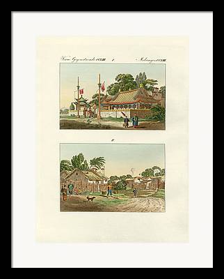 Asien Drawings Framed Prints