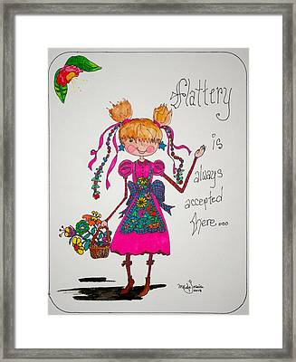 Flattery Framed Print by Mary Kay De Jesus