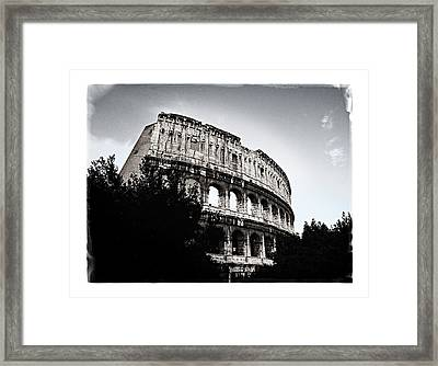Framed Print featuring the photograph Flavian Amphitheater by Joe Winkler
