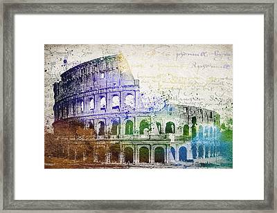 Flavian Amphitheatre Framed Print by Aged Pixel