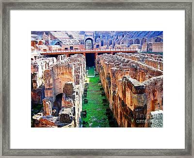 Flavian Amphitheatre Framed Print