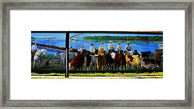 Florida Crackers Mural Pano Framed Print by David Lee Thompson
