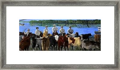 Florida Crackers Mural Framed Print by David Lee Thompson