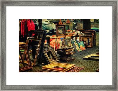 Flea Market. Amsterdam Framed Print by Jenny Rainbow