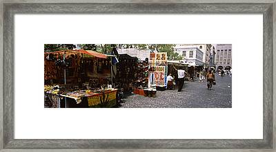 Flea Market At A Roadside, Greenmarket Framed Print by Panoramic Images