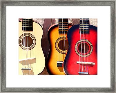 Flea Market Guitars Framed Print